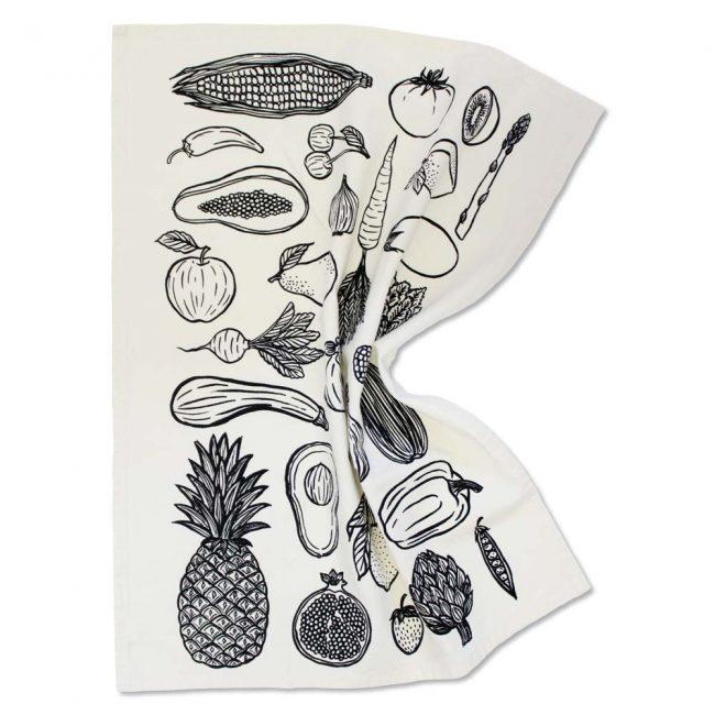 Fruit & Veggie Tea Towel